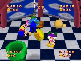Spielerisch täuschend ähnlich. So sieht Mario Party 1 auf dem N64 aus.