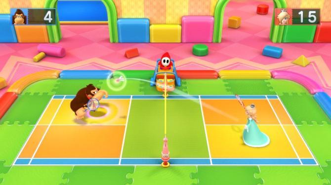Als Bonusspiel ganz nett: Badminton!