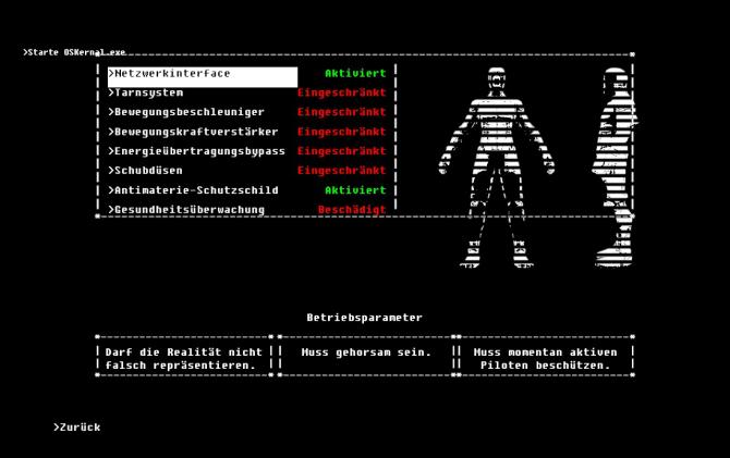 Die geschützten Betriebsparameter der ARID-Einheit.