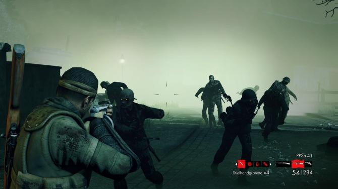 Spielprinzip: ein paar Meter gehen, Waffe zücken, Zombies erledigen. Dann wieder von vorn.