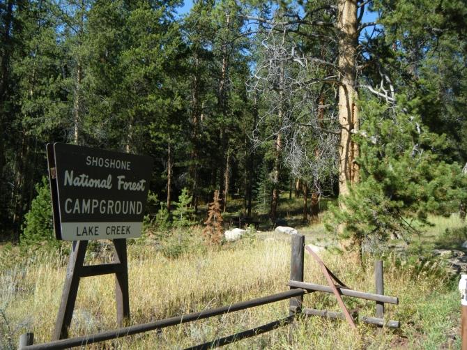 Der echte Shoshone National Forest.