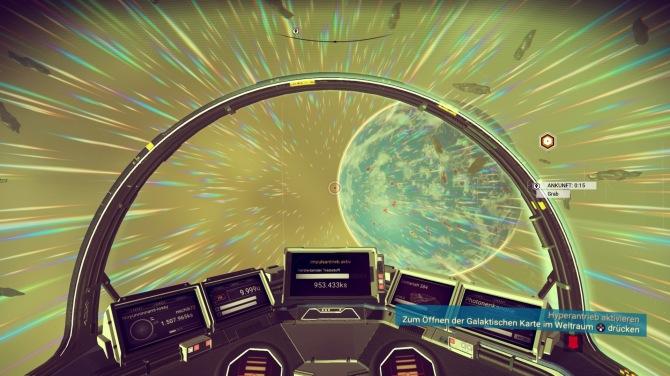 Mit Implusantrieb zu neuen Planeten, die dann die Welten in anderen Farbwelten bieten.